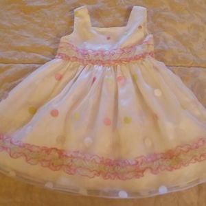 Youngland white polka dot dress